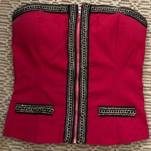 Perfect Little Red Corset Top with Strap.